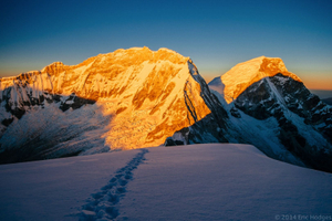 Huascaran at Sunrise from Chopicalqui