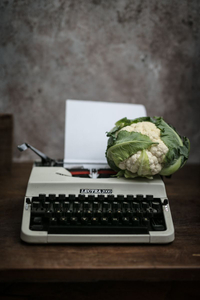Cauliflower (100 A.C.) and Typewriter (1970's)