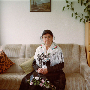 Julita Schweikart, Black Forest, 2014. From the series: The last women in their traditional peasant garbs