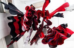 The team uniform of Flamengo, Brazil's most popular football club, hang to dry in Rio de Janeiro. © Bel Pedrosa