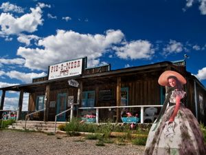 "From the series ""Scarlett America: American Wanderings of a Cardboard Stand-up"", Scarlett in New Mexico, August 2008"