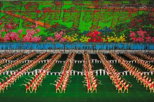 The mass games, in North Korea known as Arirang, are one of the biggest events in the world when over 100.000 people perform during one spectacle.