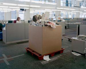 Trash Bins, 5:01pm, 2012 © Will Steacy