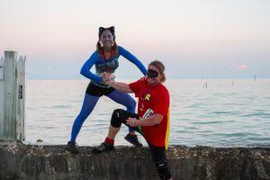 The Superheroes, Simonton Street, Key West, Florida. © Rona Chang
