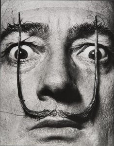 """Like two erect sentries, my moustache defends the entrance to my real self,"" Dalí's Mustache, 1953-1954. Archives Philippe Halsman © 2015, Philippe Halsman Archive / Magnum Photos. Exclusive rights for images of Salvador Dalí: Fundació Gala- Salvador Dalí, Figueres, 2015"