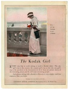 The Kodak Girl, advertisement (source unknown), 1914.