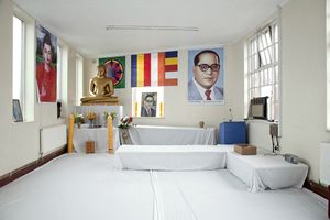 Dr. B.R. Ambedkar Indian Buddhist Temple   Dr. B.R. Ambedkar revived Buddhism in India. The temple was set up in a disused factory near Soho Road by local Indian Buddhists. They have no resident monk.  © Liz Hingley