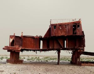 The Aral Sea III (Fishing Trawler). Kazakhstan, 2011 © Nadav Kander