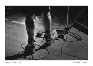 Effect pedals on stage
