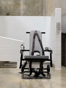 "Camp 6 Mobile Force Feeding Chair from ""If The Light Goes Out: Home from Guantanamo"" © Edmund Clark"