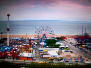 Mass Surveillance, Coney Island, USA, 2011. Photographic Still of Live Streaming Webcam © Gaialight