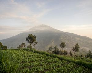 Mount Merbabu (as seen from mount Merapi) 01