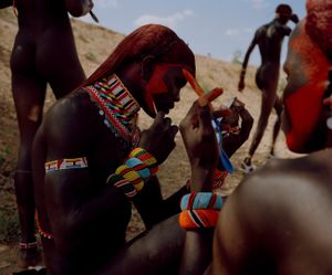 samburu moran # I, sasaab village, westgate community conservancy, northern kenya-from the series 'with butterflies and warriors'-David Chancellor