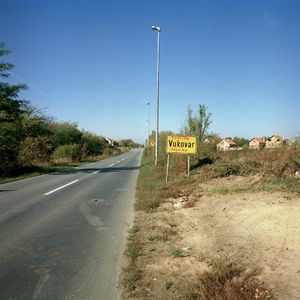Road entering Vukovar from the East. © Colin Dutton