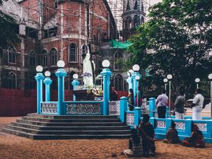 Prayer time I. Trivandrum, KL, 2014.