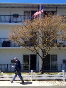 Suagerties Senior Housing with mail carrier