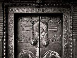 Temple door, Kathmandu