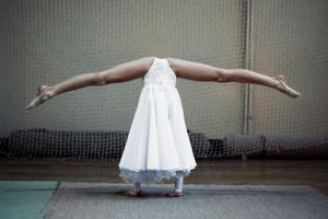 Headless. Photo taken during Artistic Gymnastics Tournament in Poland. Girls that participated were aged 8-12. © Adrian Jaszczak, Poland, Shortlist, Arts & Culture, Open. Courtesy of 2015 Sony World Photography Awards.