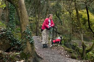 Rose with her dog, Derbyshire