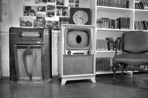 Television, museum, Cherokee (IA) Mental Health Institute.
