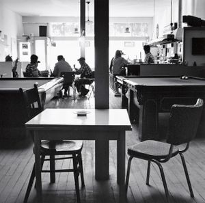 Bar and Poolroom. Calhan, Colorado. 1970. © Robert Adams. Image courtesy of Fraenkel Gallery.