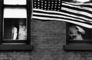 Parade  Hoboken, New Jersey, 1955. From The Americans