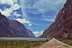 Lake Llanganuco, Huascaran National Park, Peru.