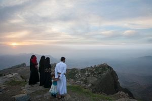 Sunset over Yemen.