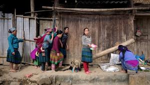 Sticky rice production.