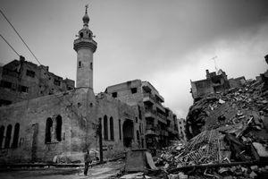 © Maciej Moskwa/TESTIGO.pl Destroyed building in Maarrat Al -Nouman. February 2013, Idlib province.