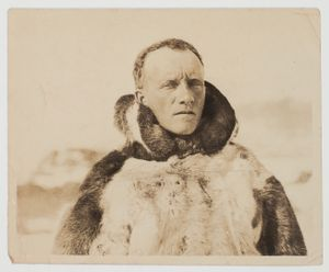 Dr. Livingstone in Winter Clothing © Archive of Dr. Leslie David Livingstone's Travels to the Arctic. Private Collection.