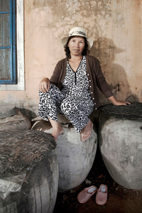 Mai Thi Dung, fish sauce producer