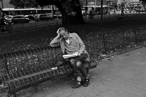Man Reading Paper, Amsterdam