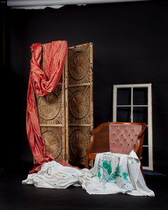 Untitled Drape and cloth window