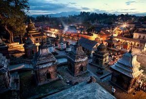 Kathmandu, Nepal: Pashupatinath Temple, one of the most important Hindu temples dedicated to Shiva. © Matjaz Krivic