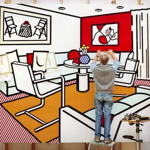Roy, Red Interior, 1991, from the series Inside Roy Lichtenstein's Studio © Laurie Lambrecht, 19901992