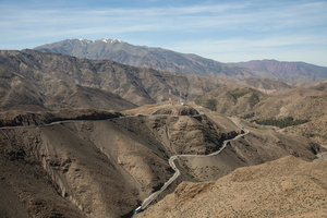 on the way to Ouerzazate, March 2015. The majestic landscape of the Atlas.