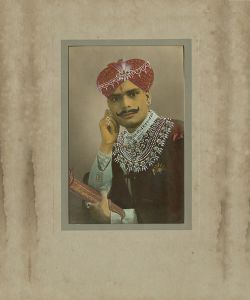 Silver gelatin print with hand-tinting and overpainting, India, c1930. © amc2