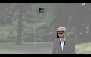 """Portrait Landscape (video still), 2015. © John Houck, courtesy of the artist. Shown at the exhibition """"Public, Private, Secret,"""" showing at the ICP in New York City."""