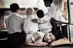 Hanoi, Vietnam, 2006. Nguyen Dinh Cheu School for blind people.
