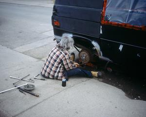 Man Fixing Van, 2015