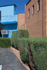 Blue Wall, Brick Wall, Foothill Blvd, La Crescenta