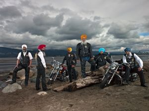 * Sikh Motorcycle Club in Stanley Park/Vancouver, British Columbia/March 2012