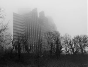 Building in Fog, Washington, DC
