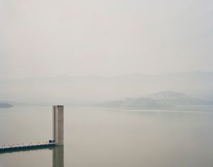 "Three Gorges Dam VII, Yichang, Hubei Province. From the series ""Yangtze, The Long River"" © Nadav Kander. Courtesy Flowers Gallery."