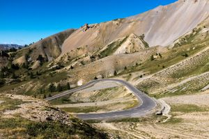 Northern side of the Col D'Izoard, a regular feature in the Tour de France, Hautes-Alpes, France