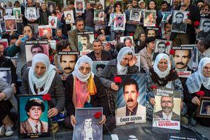 Demonstration of Kurdish people in Istanbul
