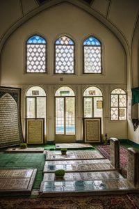 in mausoleum