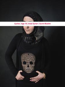 Cyrine, Age: 18, Occupation: Student, Nationality: Arab Syrian, Religion: Sunni Muslim