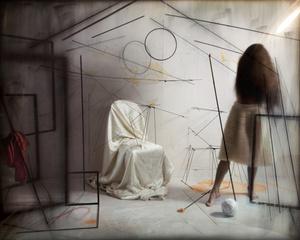 Générosité du vide I, 2015. Emulsion argentique sur verre convexe et tirage pigmentaire sur papier © Gabriela Morawetz. Exhibitor: THESSA HEROLD